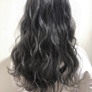 オフィス ハイライト エレガント ロング ヘアスタイルや髪型の写真・画像