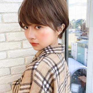 ショートボブ マッシュショート ナチュラル ショートヘア ヘアスタイルや髪型の写真・画像