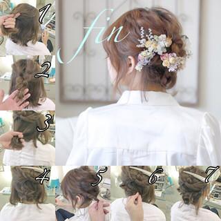 ゆるふわ ナチュラル 結婚式 ヘアアレンジ ヘアスタイルや髪型の写真・画像