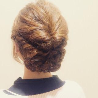 ツイスト 簡単ヘアアレンジ 三つ編み ヘアアレンジ ヘアスタイルや髪型の写真・画像