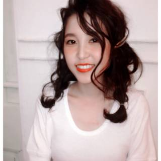 ショート ミディアム ガーリー 簡単ヘアアレンジ ヘアスタイルや髪型の写真・画像 ヘアスタイルや髪型の写真・画像