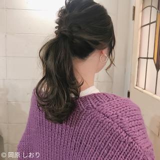 簡単ヘアアレンジ 外国人風カラー ヘアアレンジ ナチュラル ヘアスタイルや髪型の写真・画像