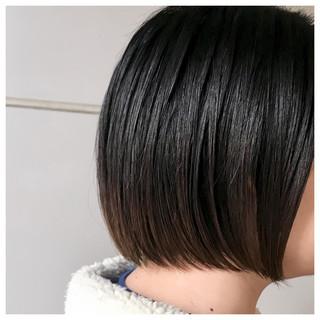 切りっぱなしボブ グラデーションカラー ミニボブ ナチュラル ヘアスタイルや髪型の写真・画像