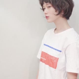 前髪あり ゆるふわ ナチュラル ショート ヘアスタイルや髪型の写真・画像