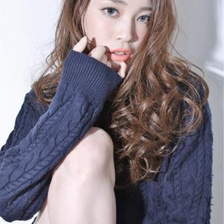 ゆるふわ 大人かわいい 外国人風 ロング ヘアスタイルや髪型の写真・画像