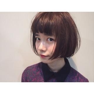 ニュアンス 春 色気 切りっぱなし ヘアスタイルや髪型の写真・画像
