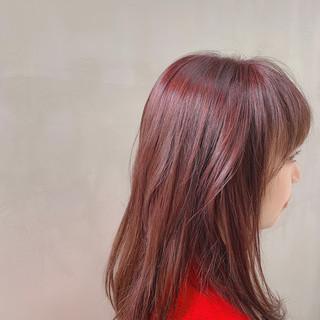 チェリーピンク 外国人風カラー ナチュラル コリアンピンク ヘアスタイルや髪型の写真・画像