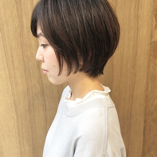 グラデーションカラー ナチュラル ボブ インナーカラー ヘアスタイルや髪型の写真・画像