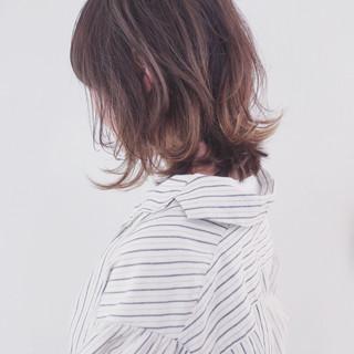 バレイヤージュ グラデーションカラー 透明感 外国人風カラー ヘアスタイルや髪型の写真・画像