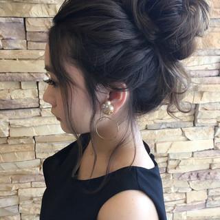 フェミニン 外国人風 ヘアアレンジ ハイライト ヘアスタイルや髪型の写真・画像