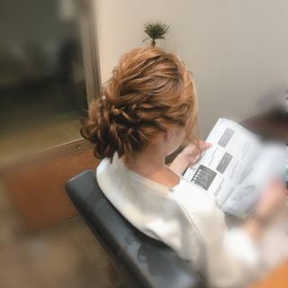 フェミニン アップ アップスタイル 結婚式 ヘアスタイルや髪型の写真・画像