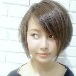 大人女子 大人かわいい 色気 ショート ヘアスタイルや髪型の写真・画像