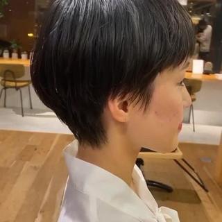 ハンサムショート 小顔ショート ショート ショートヘア ヘアスタイルや髪型の写真・画像