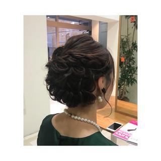 エレガント 結婚式 大人女子 大人かわいい ヘアスタイルや髪型の写真・画像