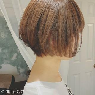 モテ髪 ミニボブ ボブ 秋冬ショート ヘアスタイルや髪型の写真・画像