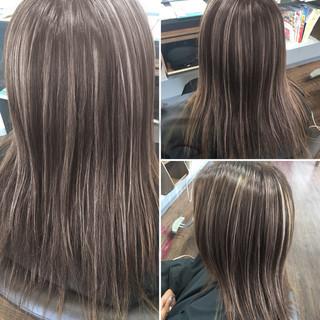 ブリーチ ハイライト 外国人風カラー ナチュラル ヘアスタイルや髪型の写真・画像