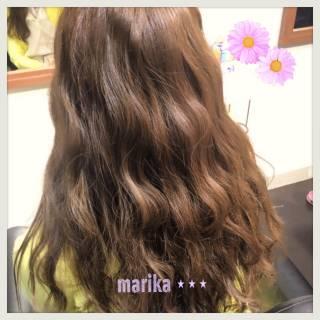 波ウェーブ ウェーブ モテ髪 フェミニン ヘアスタイルや髪型の写真・画像