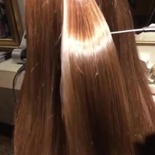 ロング 髪質改善トリートメント 縮毛矯正 ナチュラル ヘアスタイルや髪型の写真・画像