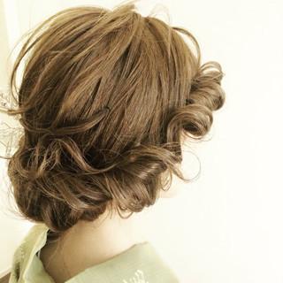 夏 ヘアアレンジ 花火大会 まとめ髪 ヘアスタイルや髪型の写真・画像