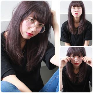 イルミナカラー 外国人風 ナチュラル セミロング ヘアスタイルや髪型の写真・画像 ヘアスタイルや髪型の写真・画像
