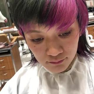 ウルフ ショート マッシュウルフ ストリート ヘアスタイルや髪型の写真・画像