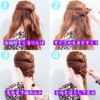 色気 ヘアアレンジ 簡単ヘアアレンジ 涼しげ ヘアスタイルや髪型の写真・画像