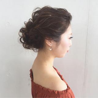ゆるふわ 大人かわいい くせ毛風 簡単ヘアアレンジ ヘアスタイルや髪型の写真・画像