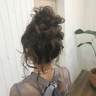 セミロング ヘアアレンジ ハロウィン ゆるふわ ヘアスタイルや髪型の写真・画像