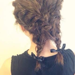 コンサバ 花火大会 お祭り ヘアアレンジ ヘアスタイルや髪型の写真・画像