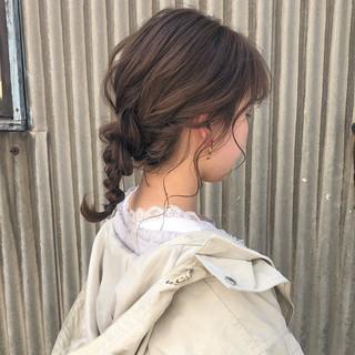 透明感カラー ガーリー ヘアアレンジ デート ヘアスタイルや髪型の写真・画像