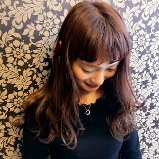 ヘアアレンジ ベージュ ロング ココアブラウン ヘアスタイルや髪型の写真・画像