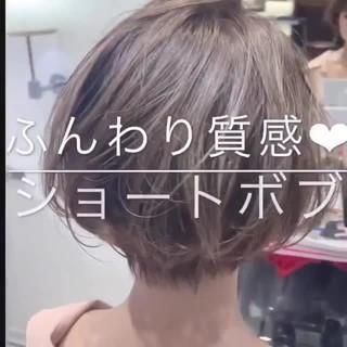 ショート アンニュイほつれヘア ショートボブ ショートヘア ヘアスタイルや髪型の写真・画像