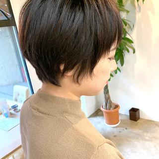 ハンサムショート オフィス デート ショートボブ ヘアスタイルや髪型の写真・画像