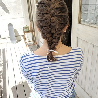 ヘアアレンジ ガーリー デート アウトドア ヘアスタイルや髪型の写真・画像 ヘアスタイルや髪型の写真・画像