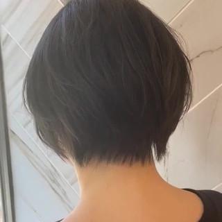 銀座美容室 アディクシーカラー ショート 外国人風 ヘアスタイルや髪型の写真・画像