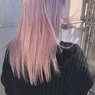 ピンク フェミニン ラベンダーピンク ペールピンク ヘアスタイルや髪型の写真・画像