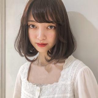 スポーツ 韓国ヘア シースルーバング ナチュラル ヘアスタイルや髪型の写真・画像