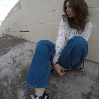 ミディアム ストリート 夏 パーマ ヘアスタイルや髪型の写真・画像