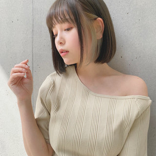 ナチュラル オリーブベージュ デジタルパーマ 透明感カラー ヘアスタイルや髪型の写真・画像