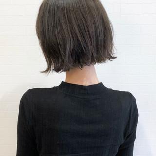 女子力 グレージュ 切りっぱなし ナチュラル ヘアスタイルや髪型の写真・画像