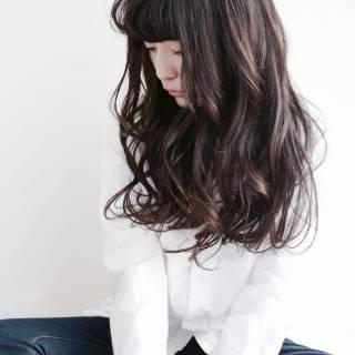 ウェットヘア パンク セミロング ナチュラル ヘアスタイルや髪型の写真・画像