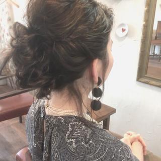 春 ヘアアレンジ ラベンダーアッシュ 結婚式 ヘアスタイルや髪型の写真・画像