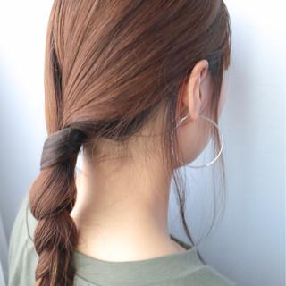ショート モード 簡単ヘアアレンジ 外国人風 ヘアスタイルや髪型の写真・画像