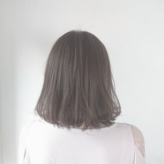 ボブ 色気 グレージュ 外国人風 ヘアスタイルや髪型の写真・画像