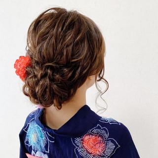 浴衣ヘア ヘアアレンジ 結婚式ヘアアレンジ お呼ばれ ヘアスタイルや髪型の写真・画像