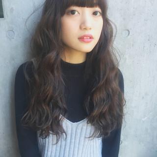 モテ髪 透明感 ローライト ロング ヘアスタイルや髪型の写真・画像