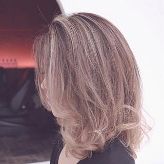 グラデーションカラー ボブ 外国人風 大人かわいい ヘアスタイルや髪型の写真・画像