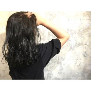 外ハネ セミロング 外国人風 ゆるふわ ヘアスタイルや髪型の写真・画像