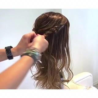 ねじり ロング 上品 エレガント ヘアスタイルや髪型の写真・画像