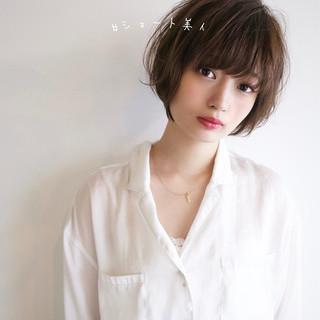 小顔ショート ショートヘア 可愛い かわいい ヘアスタイルや髪型の写真・画像